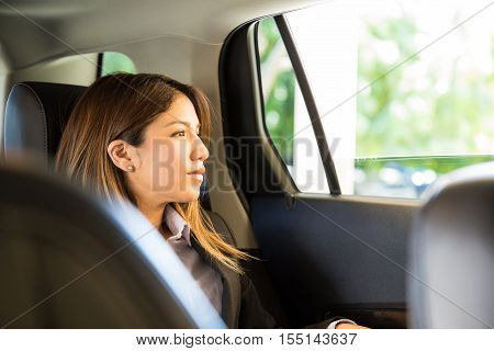 Successful Businesswoman In A Car
