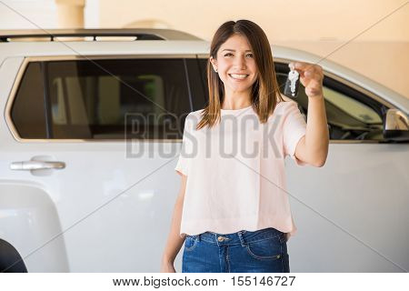 Beautiful Woman Just Bought A New Car