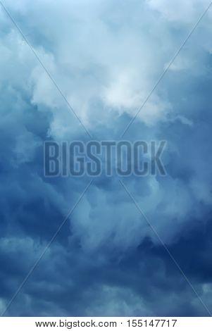 Dark storm clouds. Overcast sky. Dark sky before the rain