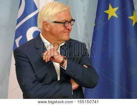 POTSDAM GERMANY. SEPTEMBER 1ST 2016: Federal Foreign Minister Dr Frank-Walter Steinmeier at the Informal OSCE Foreign Minister's Meeting held in Potsdam Germany