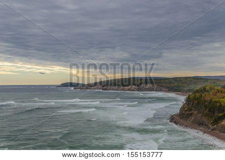 Scenic view (Highlands National Park Cabot Trail Cape Breton Nova Scotia Canada)