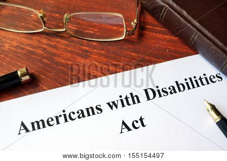 Paper with title Americans with Disabilities Act.