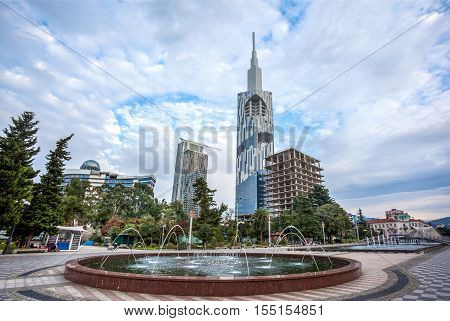 Batumi Technological University Tower On November 5, 2016 In Batumi. It Is The First Ever Skyscraper