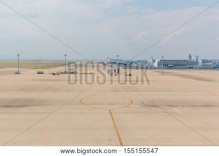 AICHI JAPAN - JUNE 26 2016: Chubu Centrair International Airport in Japan Chubu Centrair International Airport is the main international gateway for the Chubu region of Japan.