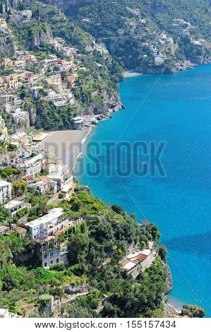 A scenic vertical picture of the Amalfi coast Italy Europe