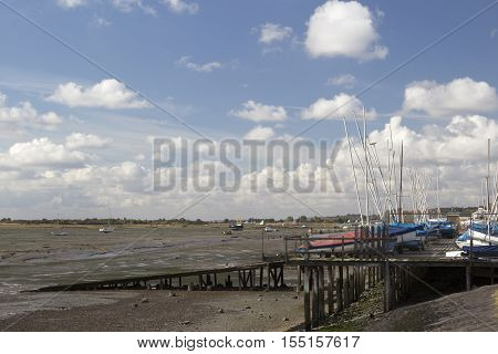 Boats at Leigh-on-Sea near Southend Essex England