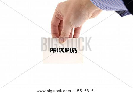 Principles text concept isolated over white background