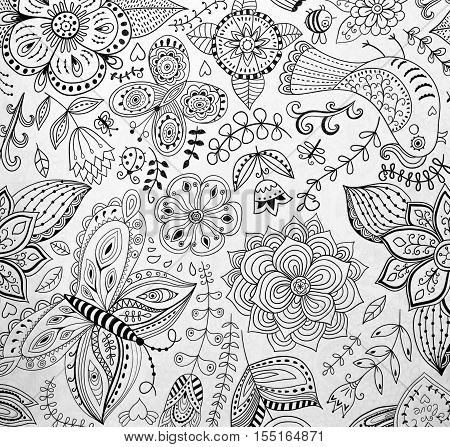 abstraction coloring pages for adultsstress relief top view closeup