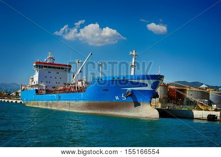 General Cargo ship on terminal in sea port