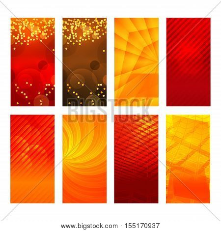 Vertical Banner Set Design Element Background Glow Abstract Shape31