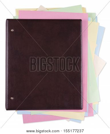 Concept of leather folder with creative ideas