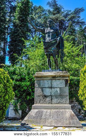 Hdr Caesar Augustus Statue In Susa