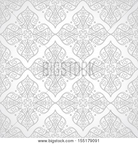 Vector Seamless Pattern In East Style.