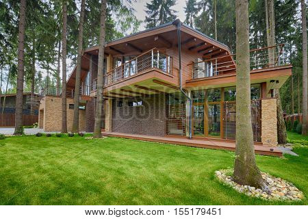 Russia, country house, Chalet in the woods