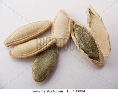 Pumpkin seeds and inner fruit grown as natural and organic barnyard