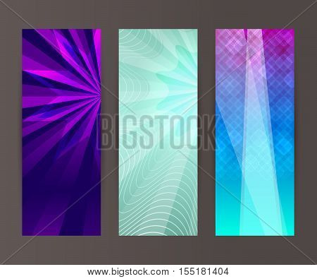 Vertical Banner Set Design Element Background Glow Abstract Shape44