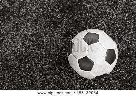 Football On Field, Bw Process