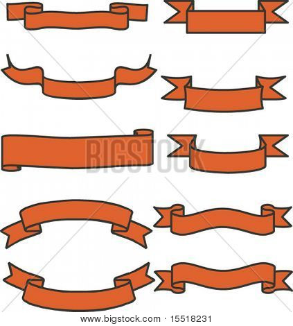 Banner tapes. Vector figure