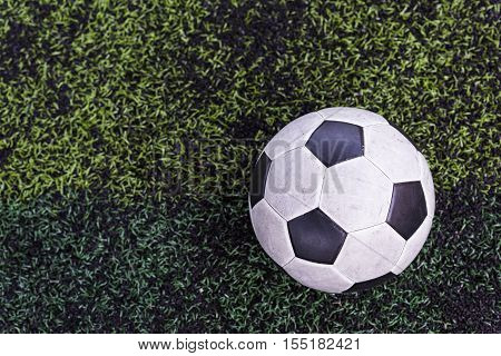 Football On Artificial Green Grass
