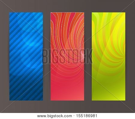 Vertical Banner Set Design Element Background Glow Abstract Shape46