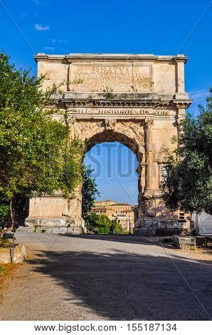 Hdr Arch Of Titus In Rome