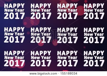 happy new year 2017 pattern with colorful backdrop