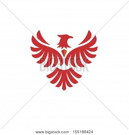 Eagle bird Logo design vector template. Flying Hawk, Phoenix Logotype concept icon