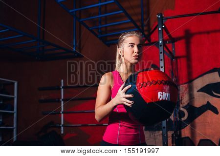Girl with med ball