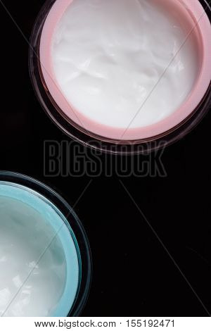 Tow Glass Container For Cream