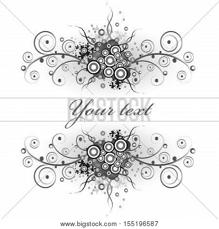 Floral grunge background. Abstract tattoo concept. Vector eps10 illustration