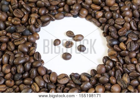 Roasted Grains Of Black Coffee.