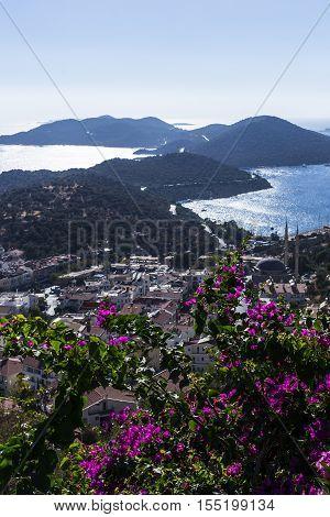 antalya kaş landscape the beauty sky and cloud