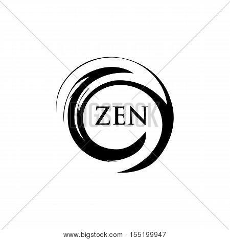 Abstract Circle in motion. Zen Balance Creative Design