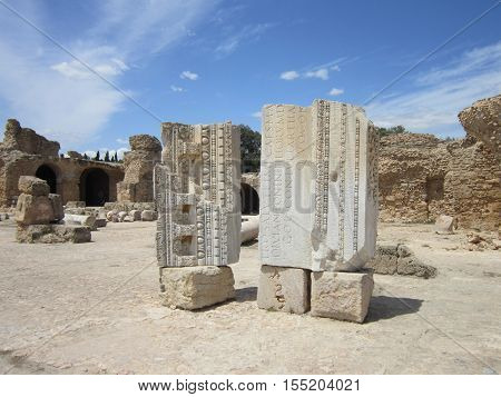 The ruins of ancient Carthage in present-day Tunisia