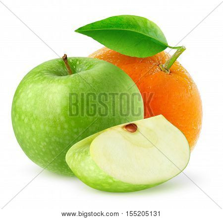 Isolated Apple And Orange