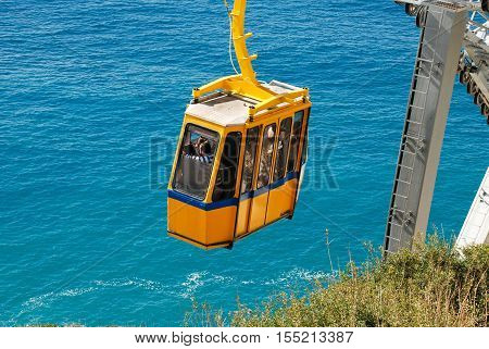 The Cable Car At The Rosh Hanikra. Israel