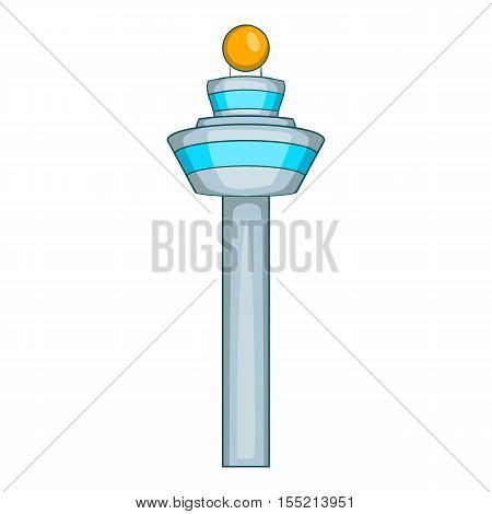 Dispatch tower icon. Cartoon illustration of dispatch tower vector icon for web