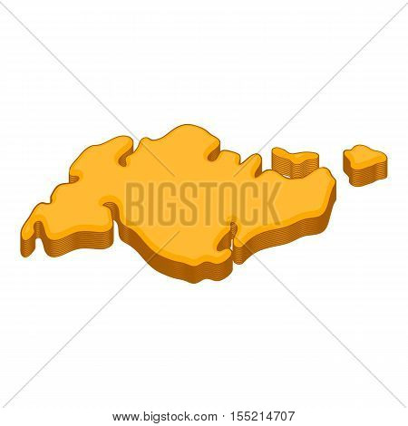 Continent icon. Cartoon illustration of continent vector icon for web