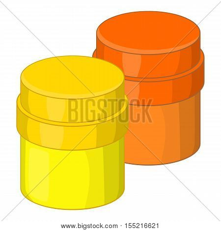 Paint cans icon. Cartoon illustration of paint cans vector icon for web design