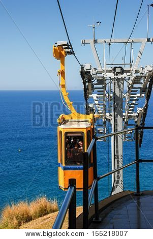 The Cable Car In The Rosh Hanikra. Israel