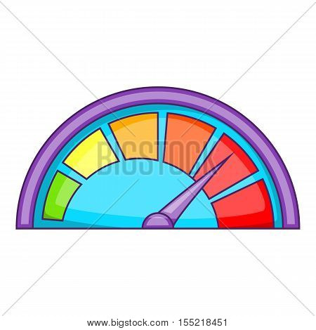 Small speedometer icon. Cartoon illustration of speedometer vector icon for web design