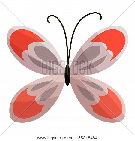Butterfly icon. Cartoon illustration of butterfly vector icon for web