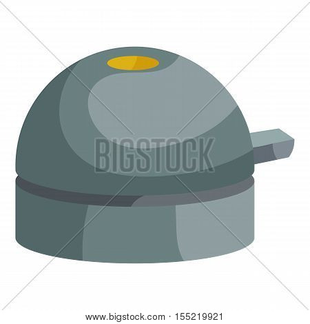 Bicycle bell icon. Isometric illustration of bicycle bell vector icon for web design