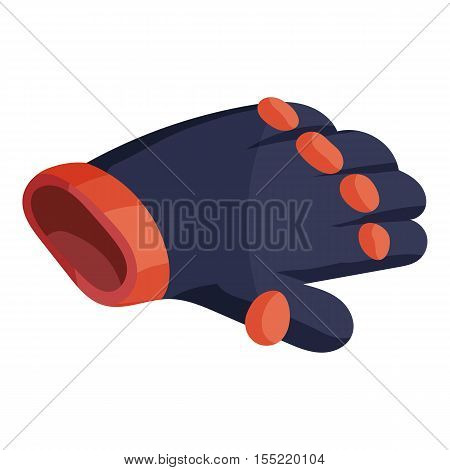 Glove for biker icon. Isometric illustration of glove for biker vector icon for web design