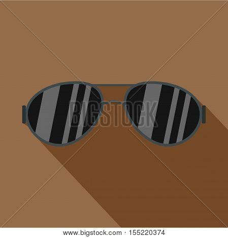 Dark glasses icon. Flat illustration of dark glasses vector icon for web