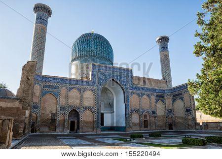 Gur-Emir mausoleum of Tamerlane (Amir Timur) and his family in Samarkand Uzbekistan