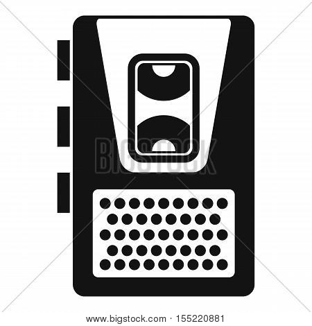 Dictaphone icon. Simple illustration of dictaphone vector icon for web