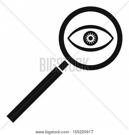 Magnifying glass icon. Simple illustration of magnifying glass vector icon for web