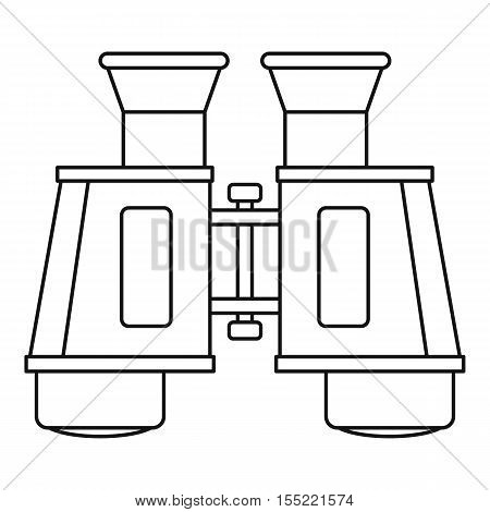 Binoculars icon. Outline illustration of binoculars vector icon for web