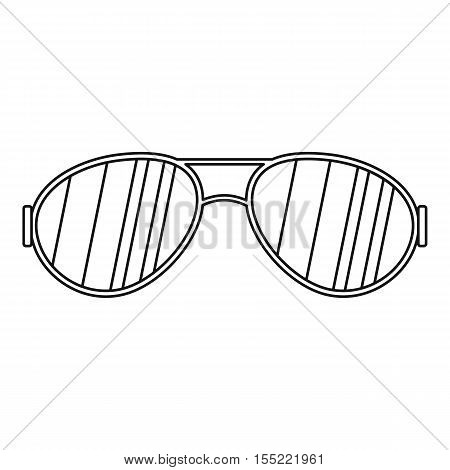 Glasses icon. Outline illustration of glasses vector icon for web